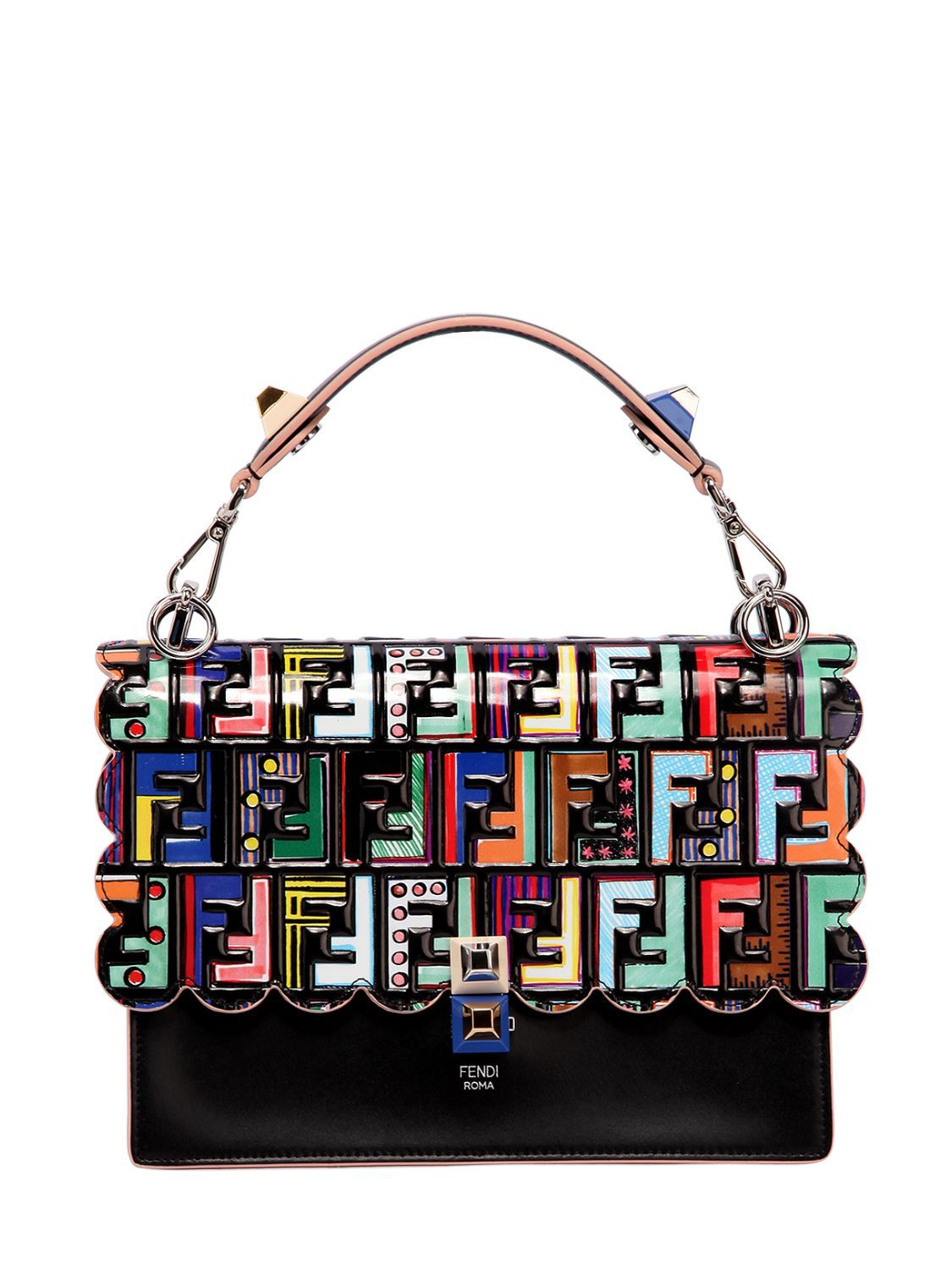 fcbba21af54f FENDI MEDIUM KAN I SCALLOPED LEATHER BAG.  fendi  bags  shoulder bags  hand  bags  suede  lining