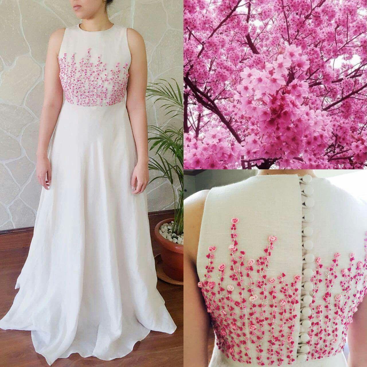 French knot ideaaa | Dresses | Pinterest | Sumo, Bordado y Falda
