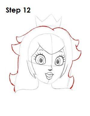Draw Princess Peach Step 12