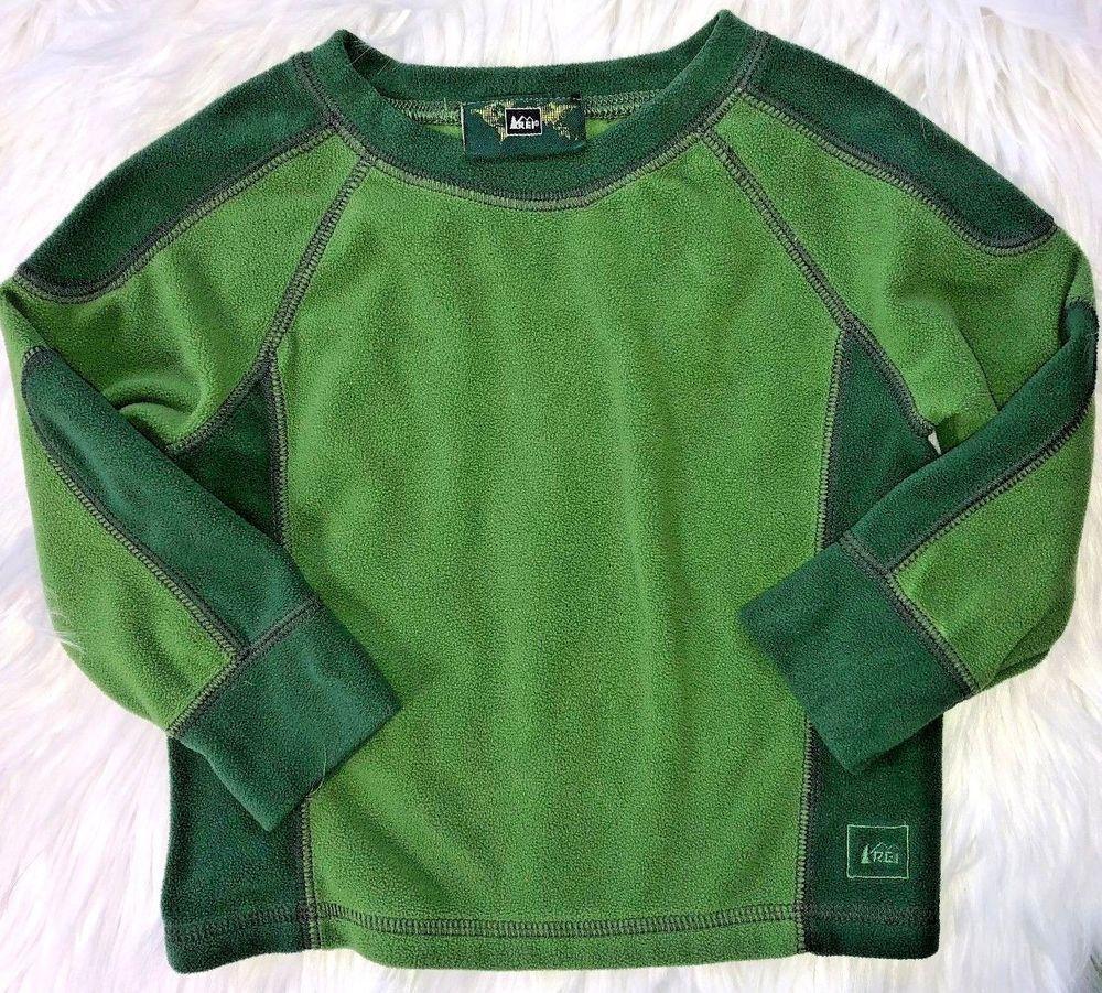 107b30e86563 REI Boys 12 Months Green Fleece Long Sleeve Shirt Camping Hiking ...