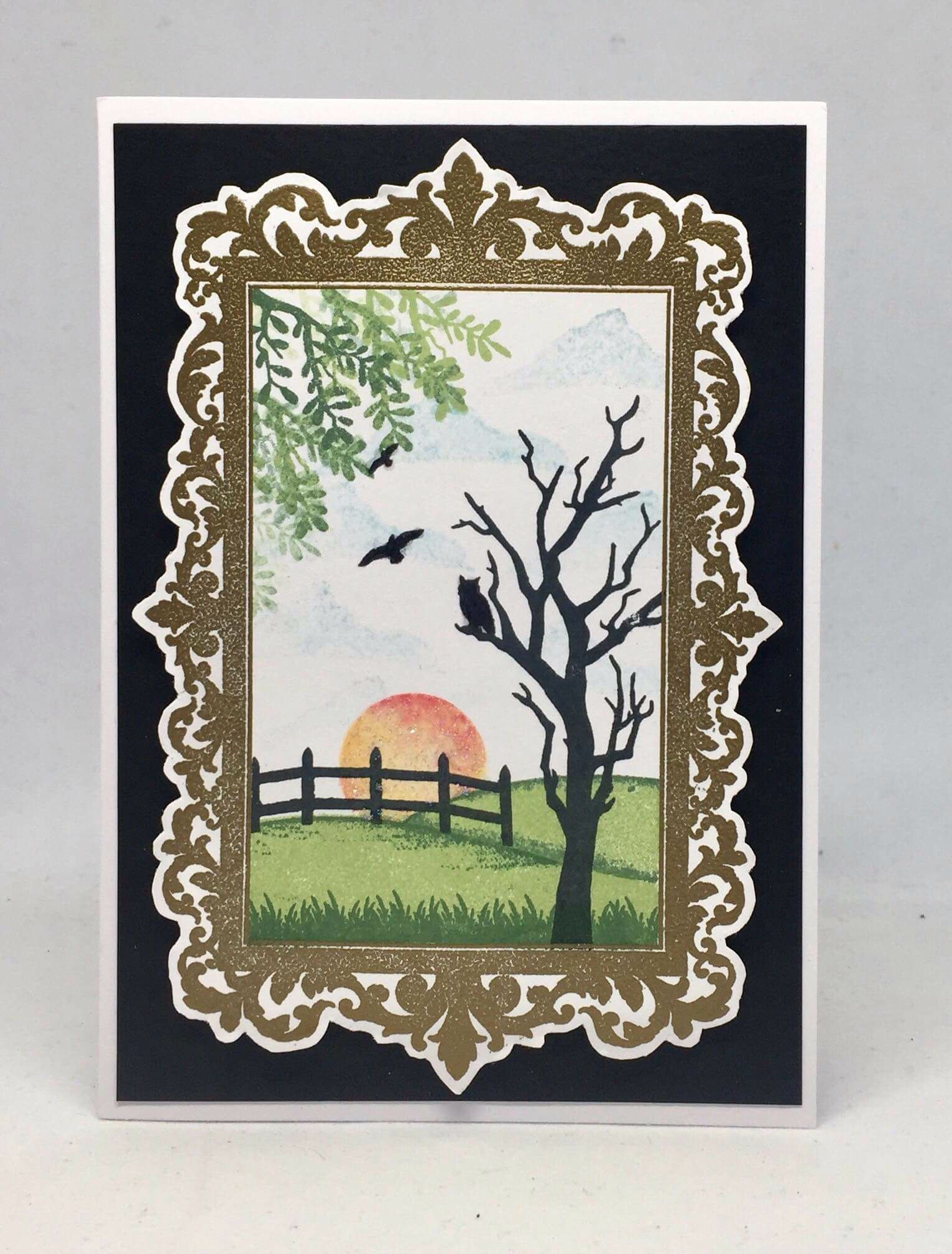 Card created using Masterpiece Duo Stamp Set - Ornate Frame &a ...