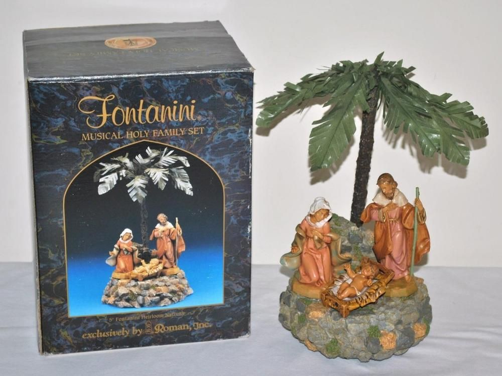 Fontanini Musical Nativity Holy Family Scene With Palm