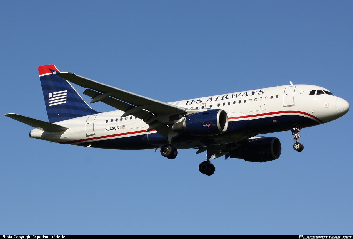 N768US US Airways Airbus A319-100