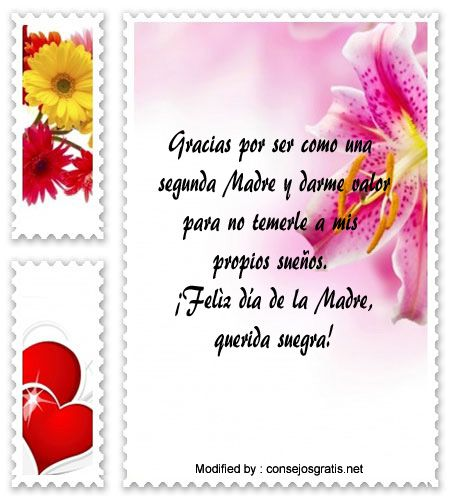 Mensajes Y Postales Para Mi Suegra Por El Dia De La Madre