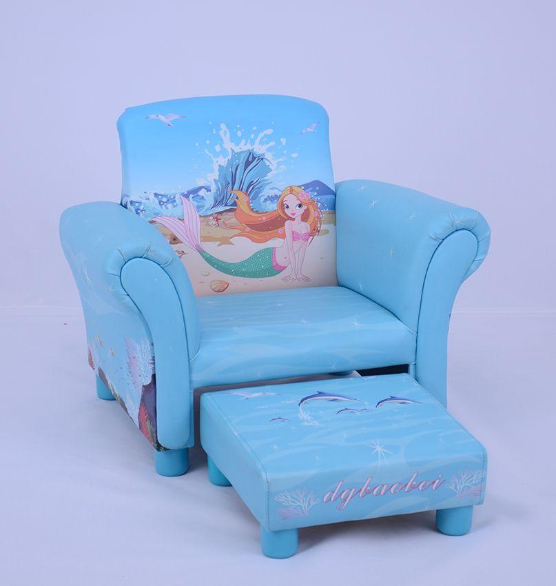 Chesterfield Sofa Custom Single Seat Blue PVC Mermaid Children Sofa SF efull