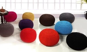 Groupon - Knitted Pouffe in Choice of Size and Colour from £29.99. Groupon deal price: £29.99
