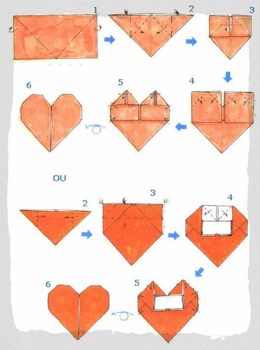 Origami De Corazon Paso Por Paso Hazlo Tu Misma Pinterest Origami - Origami-corazn