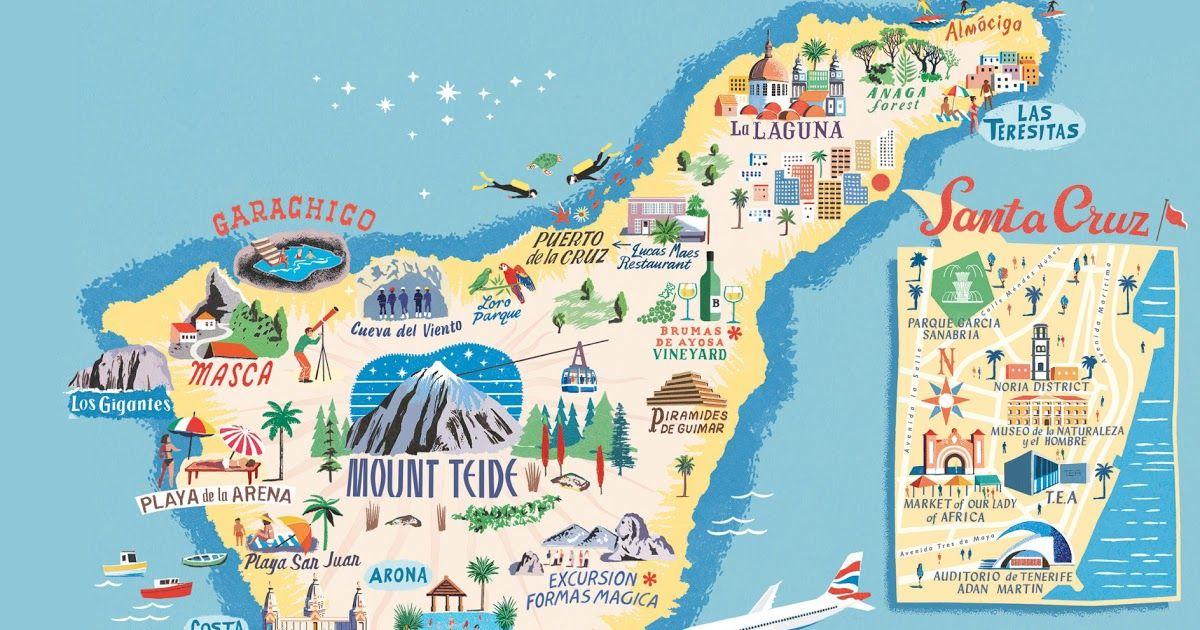 Tenerife Mapa Con Los Mejores Lugares Del Sur Y Norte De La Isla