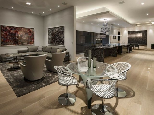 Meubles salle à manger - 87 idées sur lu0027aménagement réussi - salon sejour cuisine ouverte