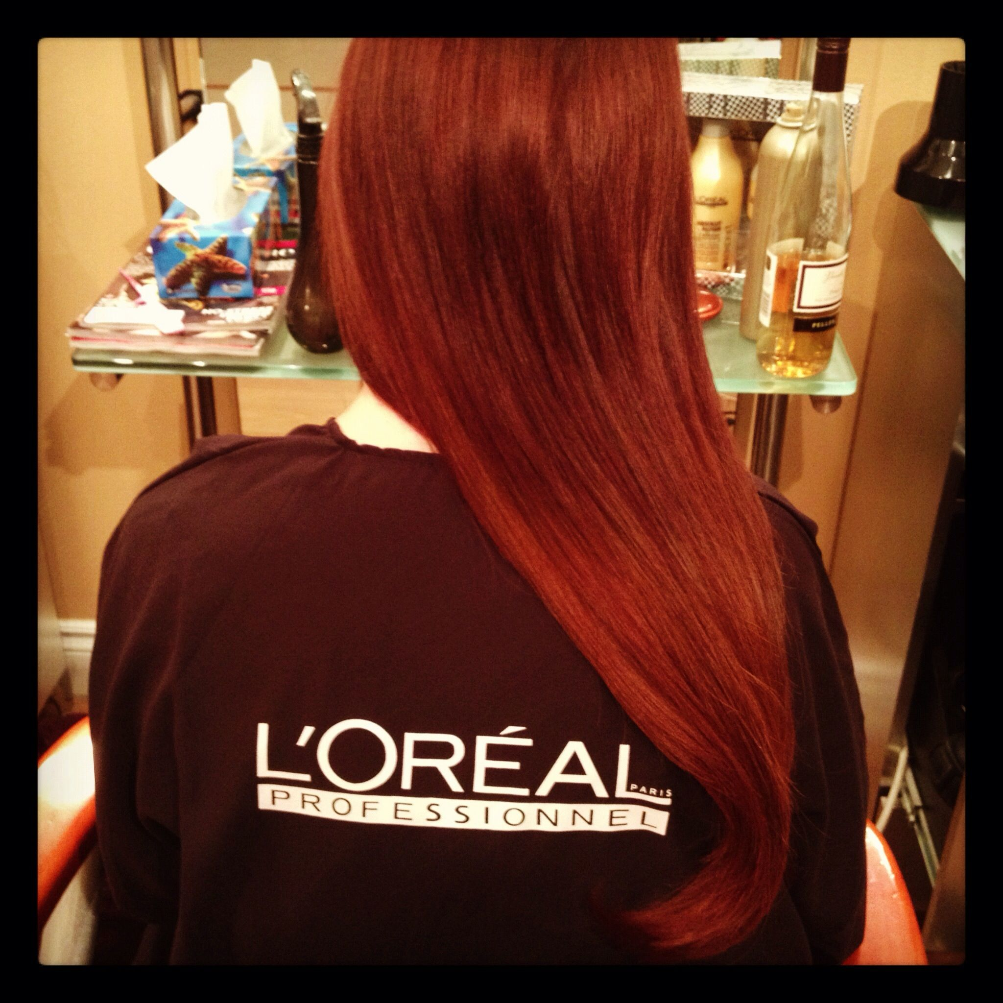 Loreal Majirel 5 65 Faded To 7 45 Hairstyle Red Hair Hair