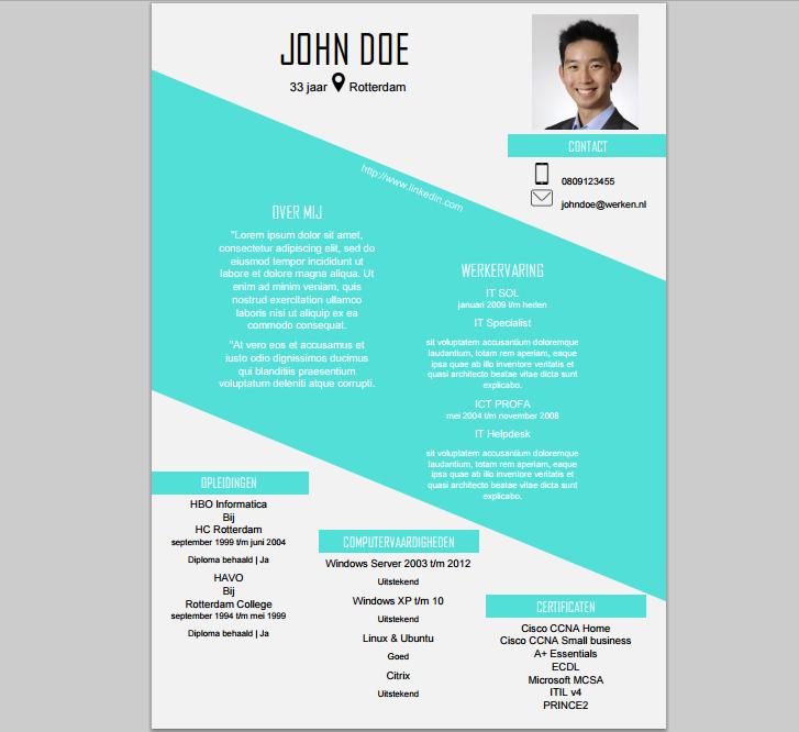 Deze CV template is te downloaden op onze website! http://cvenzo ...