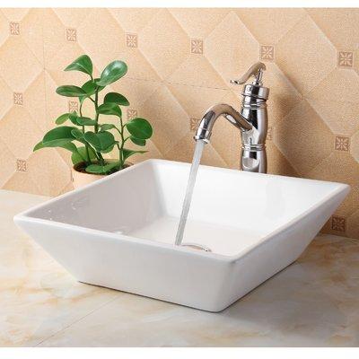 Ceramic Square Vessel Bathroom Sink Bathroom ideas Pinterest