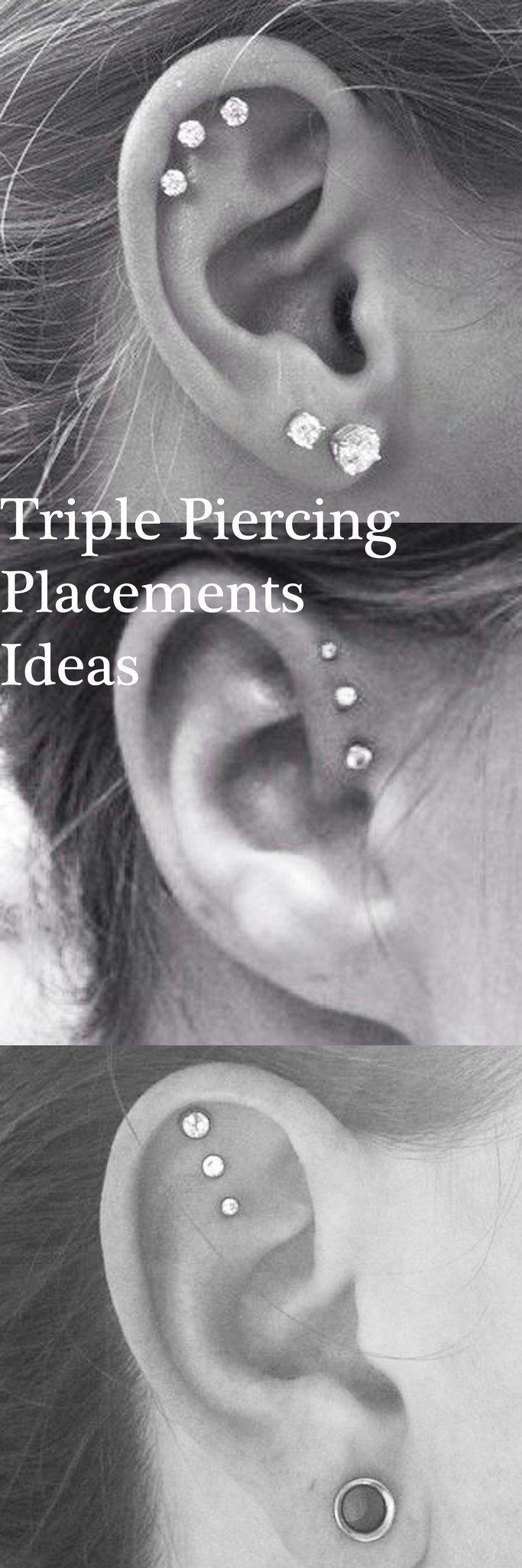 Cute piercing ideas ears   Free Ear Piercing Ideas  Pinterest  Forward helix earrings