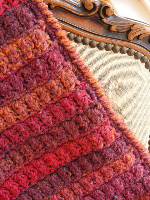 Cluster stitch afghan, free pattern from Red Heart . . . . ღTrish W ...