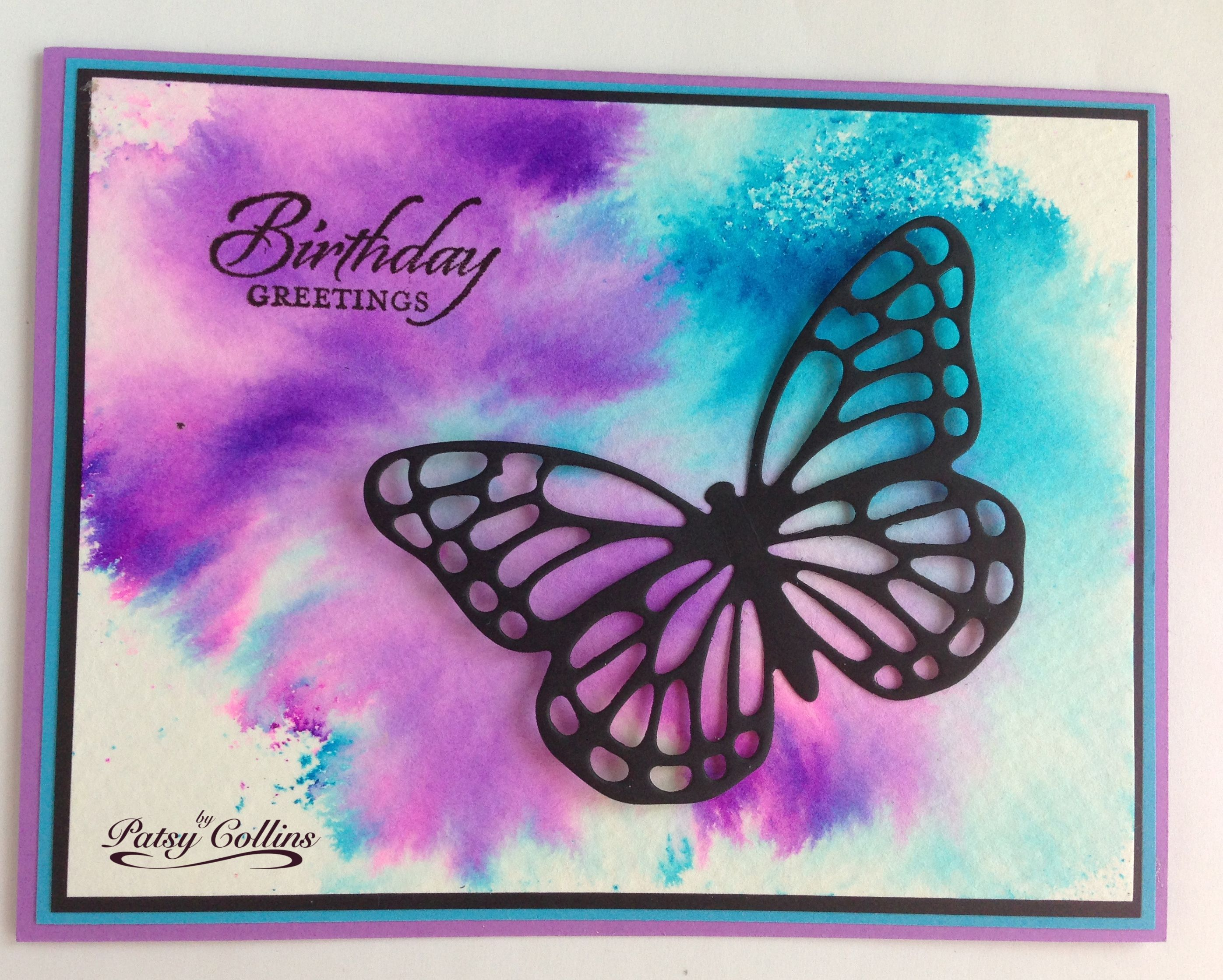 By Patsy Collins Tap Color Bursts Onto Watercolor Paper Spritz