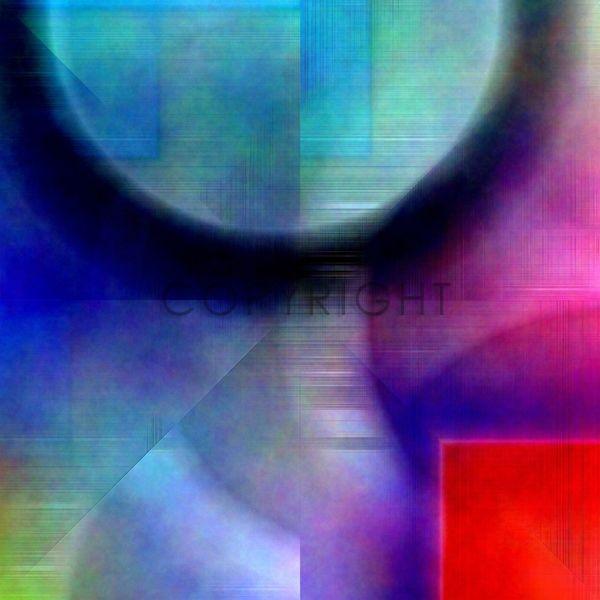 Bild auf Leinwand kaufen FineArtPrint 11541548 B?ssler Christine abstrakt behaglich digital farben formen geometrie muster textur
