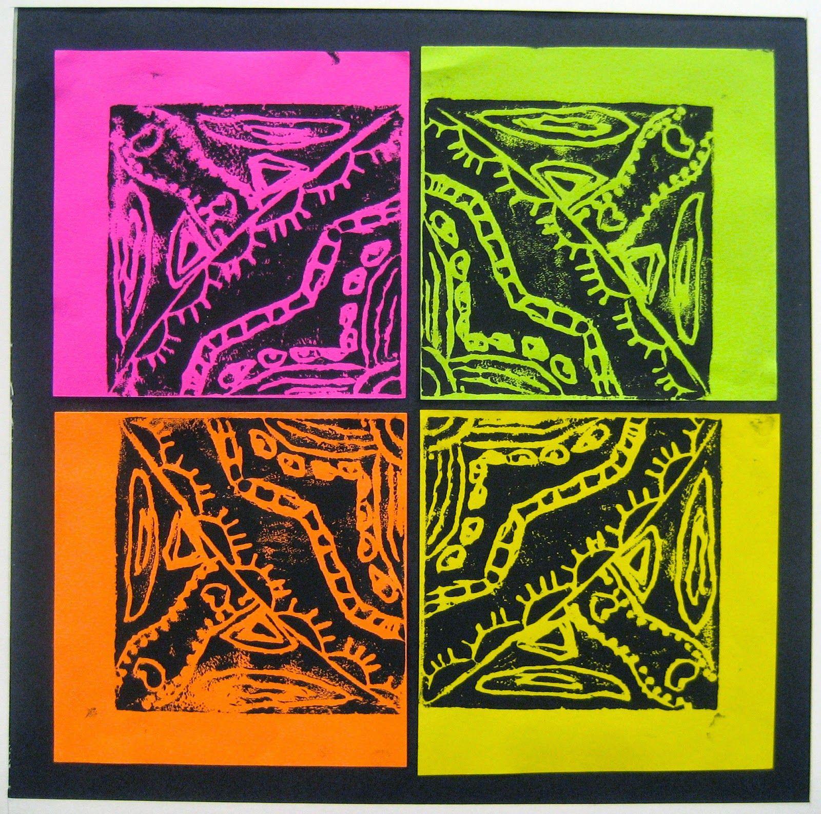 Printmaking Radial Design