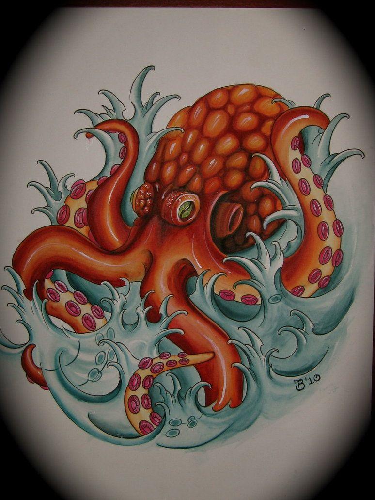 octopus by bobeck on DeviantArt | Tataouage de pieuvre ...