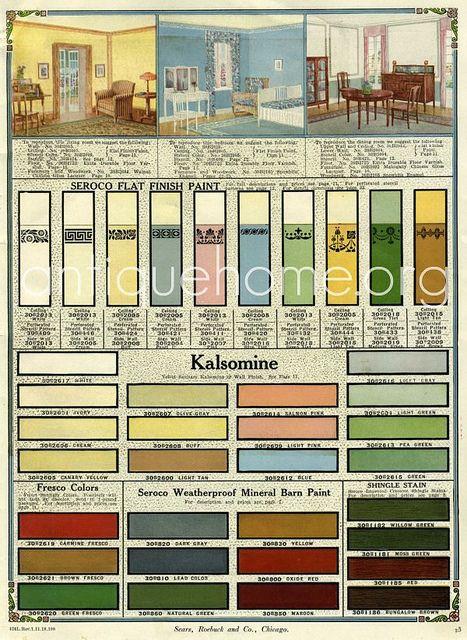 Seroco Paint Sears And Roebuck 1918 Interior Colors