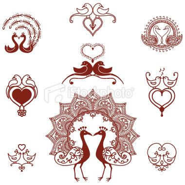 peacock henna tattoo love bird dove couple indian culture swan loving unity heart. Black Bedroom Furniture Sets. Home Design Ideas