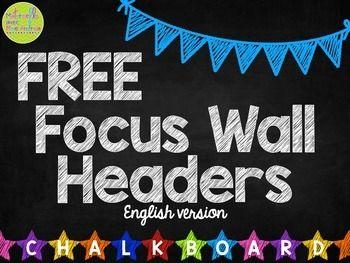 Free Daily Focus Wall Headers English Version Kindergarten Focus Walls Focus Wall Kindergarten Classroom Decor