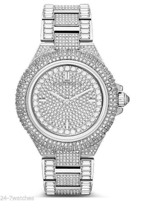232200564b8c NEW Michael Kors MK5869 Camille Crystal Encrusted Bracelet Silver Diamond  44mm #MichaelKors #Fashion