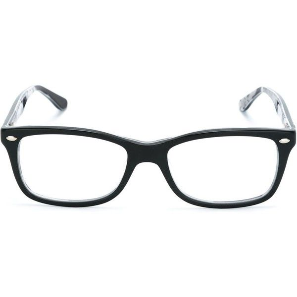 d7ce4baffa Ray Ban rectangular frame glasses (350 BGN) ❤ liked on Polyvore featuring  accessories