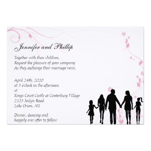 Blended Family Wedding Invitation Zazzle Com In 2020 Blended Family Wedding Family Wedding Sample Wedding Invitation Wording