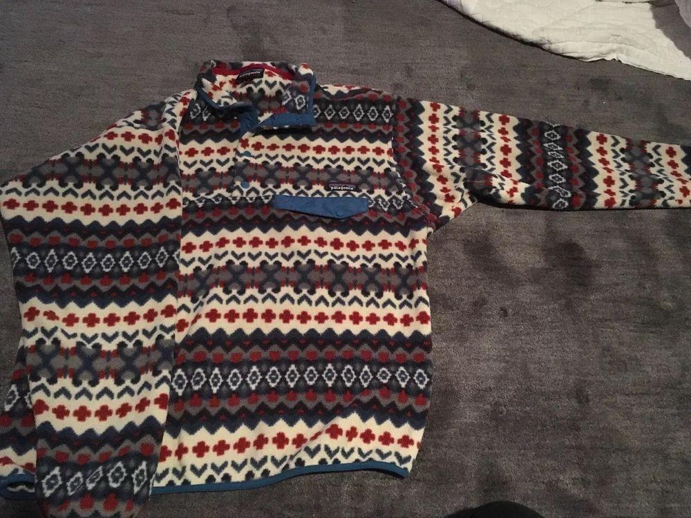 Mens Patagonia Synchilla Snap T Pullover Medium Fashion