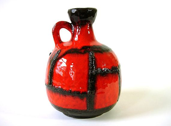 Fat Lava Vase by Rusch  // West German Pottery // by suninthebox, €39.00