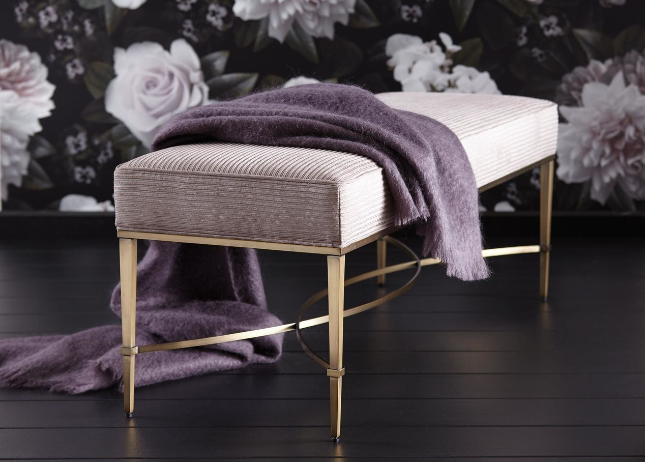 Sidney Upholstered Bench Ethan Allen Bench Upholstered Bench Ottoman In Living Room Custom Furniture