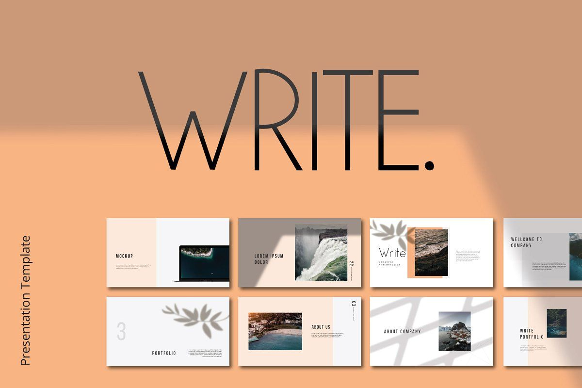 Write Powerpoint Powerpoint Template Free Presentation Template Free Templates Free Design