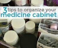 3+Tips+to+Organize+Your+Medicine+Cabinet #organizemedicinecabinets