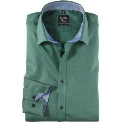 Photo of Olymp No. Six Shirt, super schlank, urban kent, grün, 38 olympymp