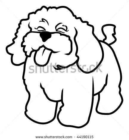 Outline Drawings Of Dogs Cartoon Vector Outline Illustration