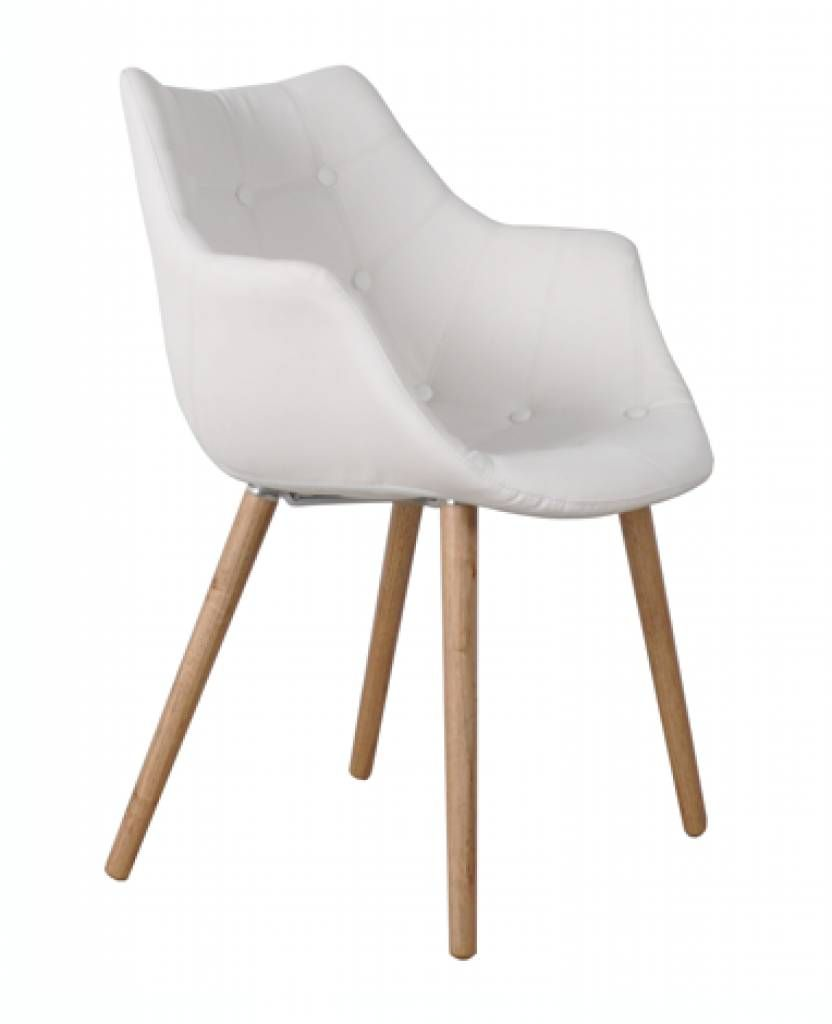 Witte Kunstleer Stoelen.Zuiver Stoel Wit Kunstleer 79x58x44cm Chair Eleven White