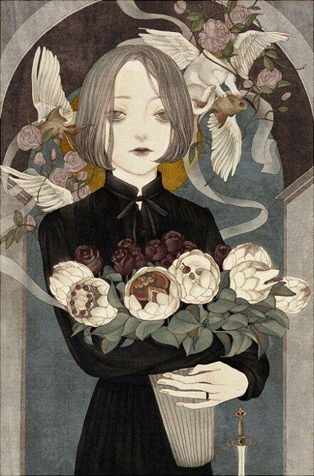 Juxtapoz Magazine - The Romantic Cannibal: The Art of Kurokawa Inuko