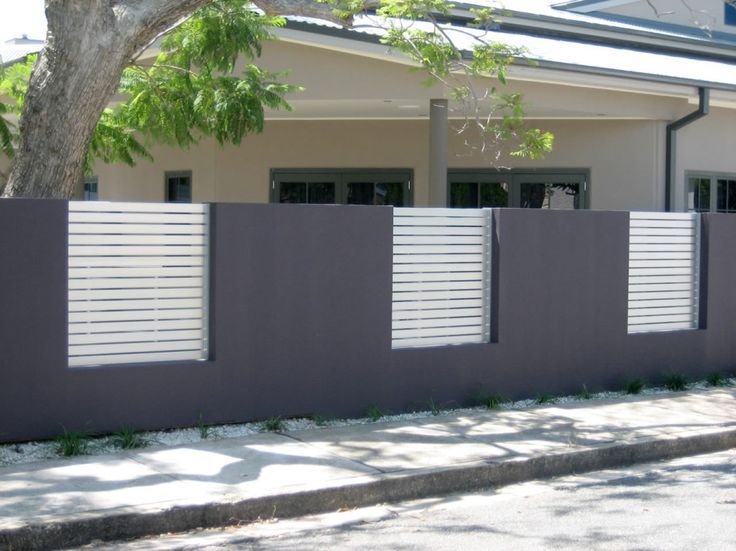 modern fence design of minimalist house - Wall Fencing Designs