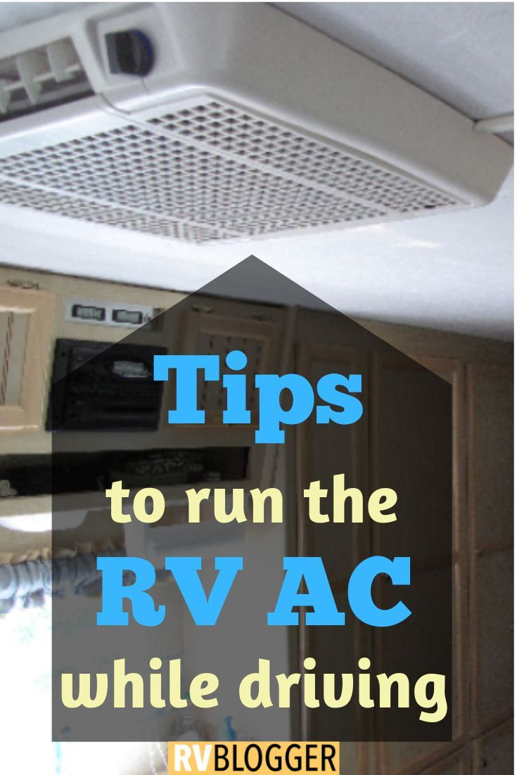 Can i run the rv ac while driving rv air conditioner