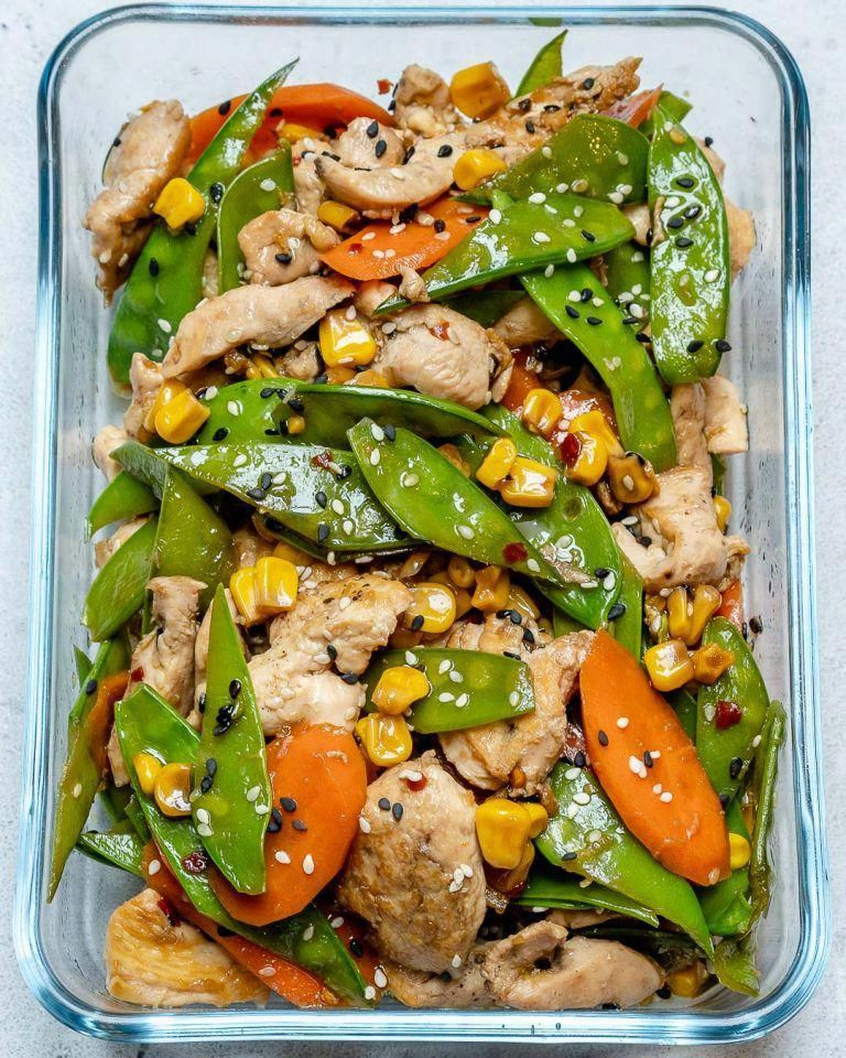 Photo of Super-Easy Chicken Stir Fry Recipe for Clean Eating Meal Prep!