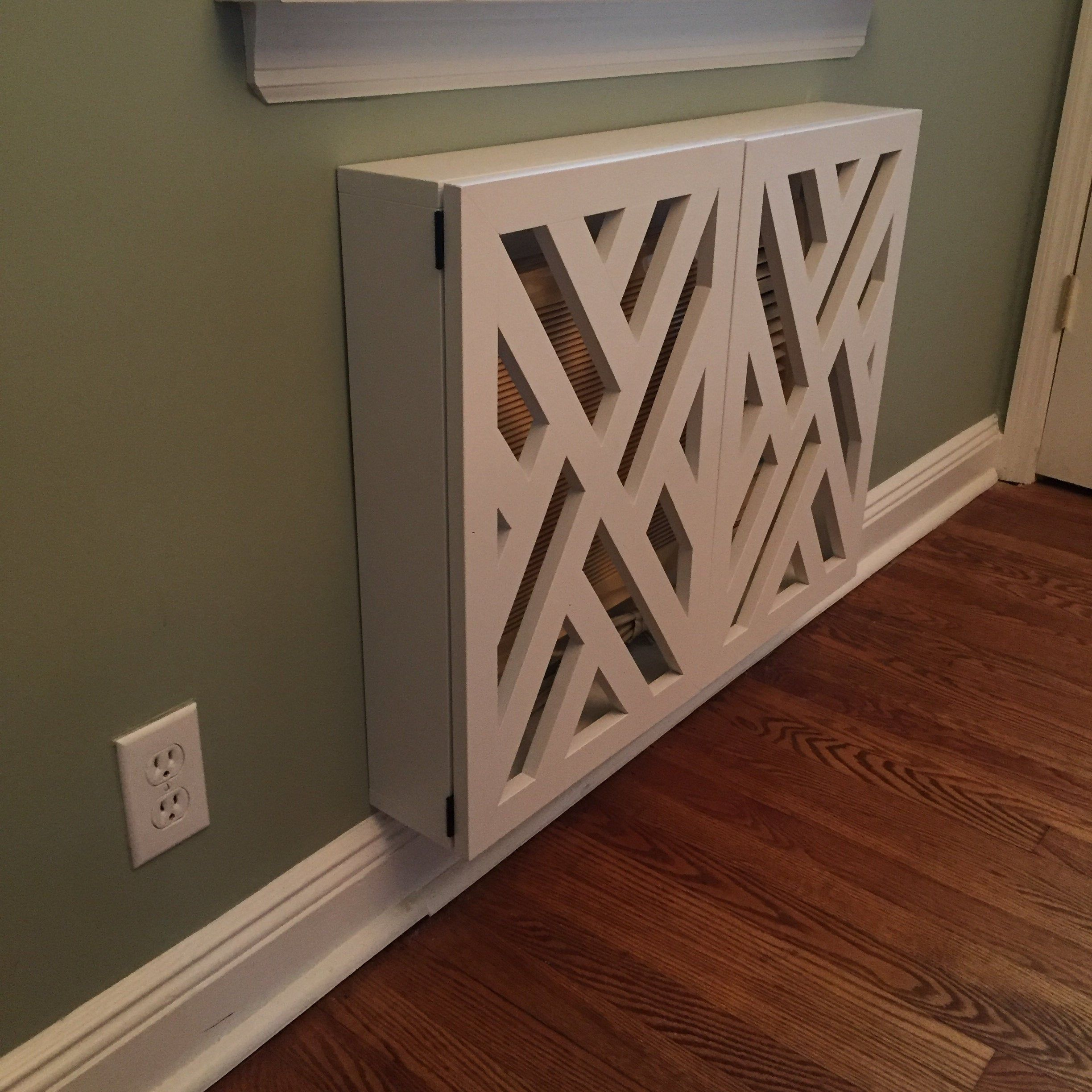 AC Unit Cover Made To Fit Geometric Design Rustic