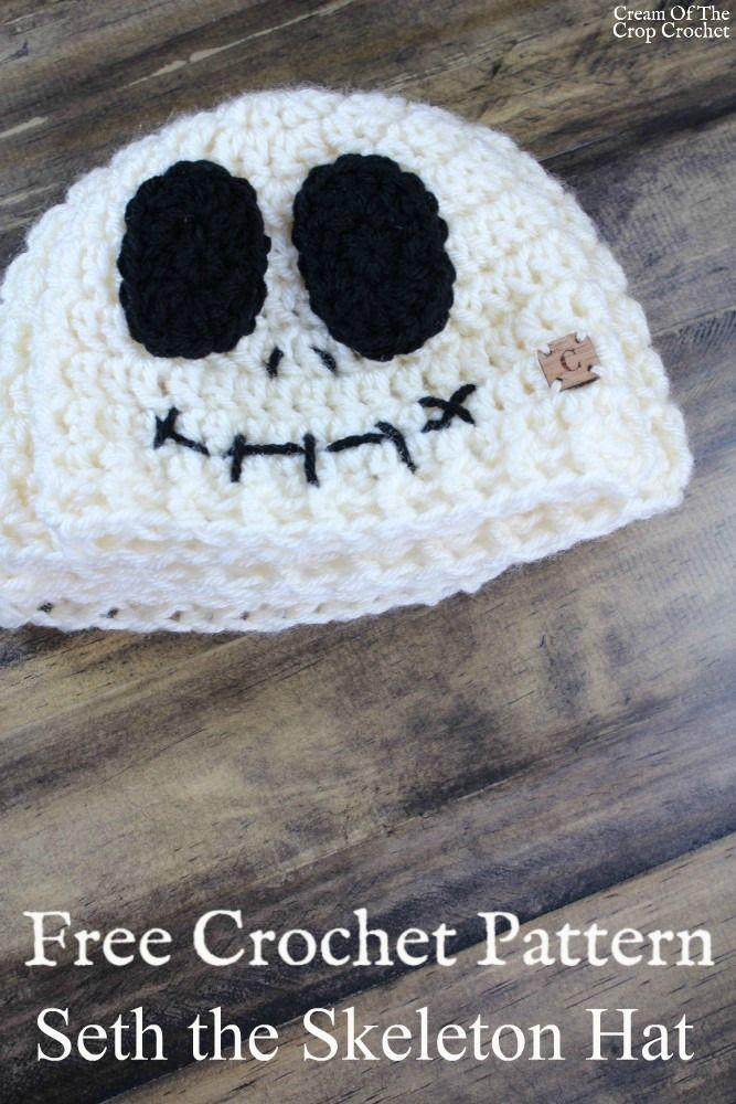 Seth the Skeleton Hat Crochet Pattern   Cream Of The Crop Crochet ...