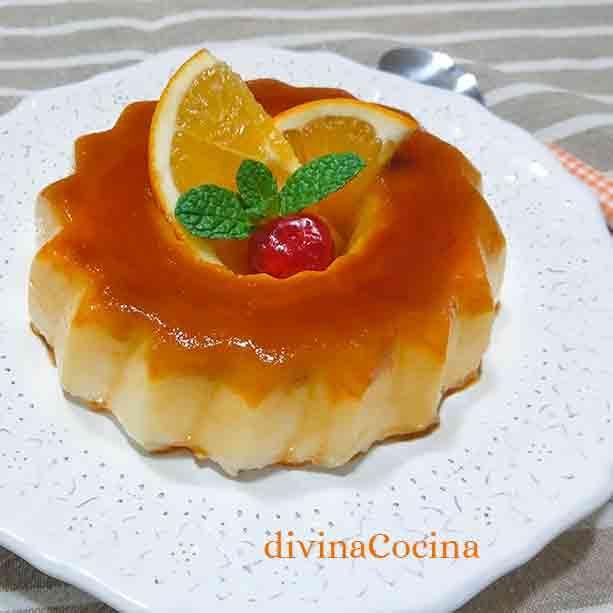 Flan De Naranja Sin Horno Receta De Divina Cocina Flan De Naranja Flan Recetas De Comida