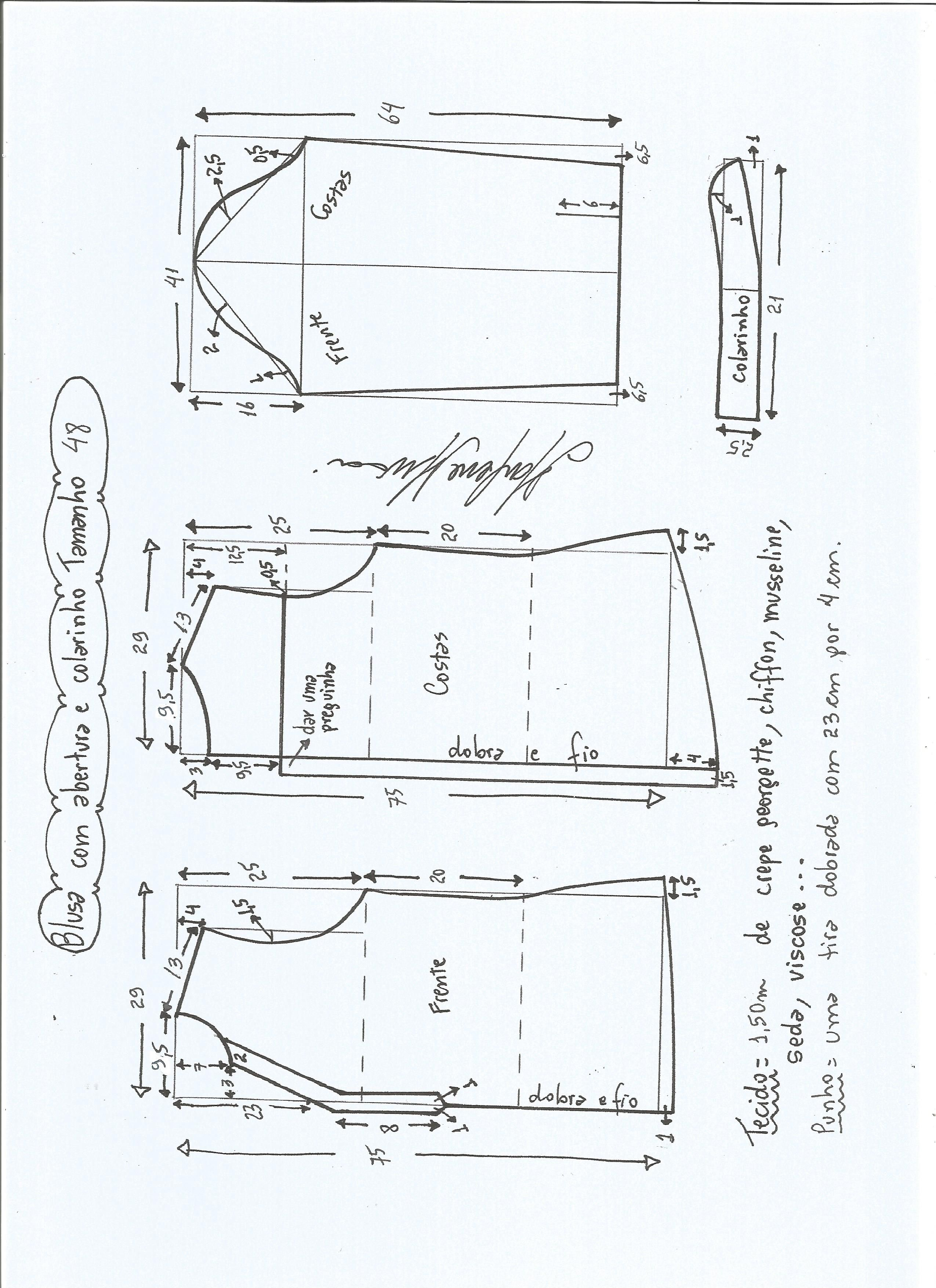 Patrón blusa con abertura | Cosas que ponerse | Pinterest | Costura ...