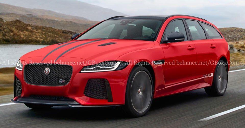 New Jaguar Xf Sportbrake Puts On Svr Performance Attire Carscoops In 2020 Jaguar Xf New Jaguar Jaguar Car