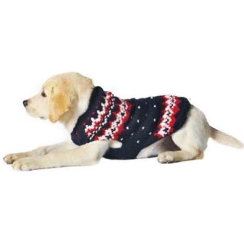 Handmade Alpine Fair Isle Wool Dog Sweater - Navy   Products ...