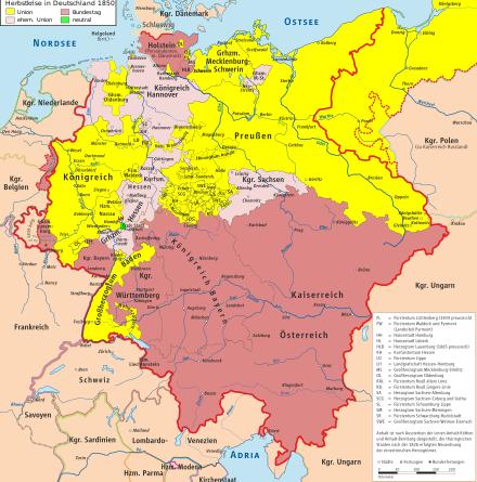 deutschland karte 1850 Norddeutscher Bund – Wikipedia | Karte deutschland, Kartographie
