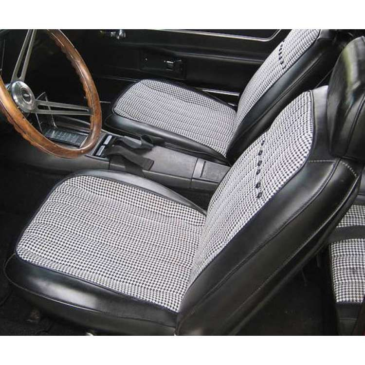 Camaro Black Houndstooth Deluxe Interior Kit Complete Coupe For Cars With Air Conditioning 1969 Black Houndstooth Camaro Blue Jeep