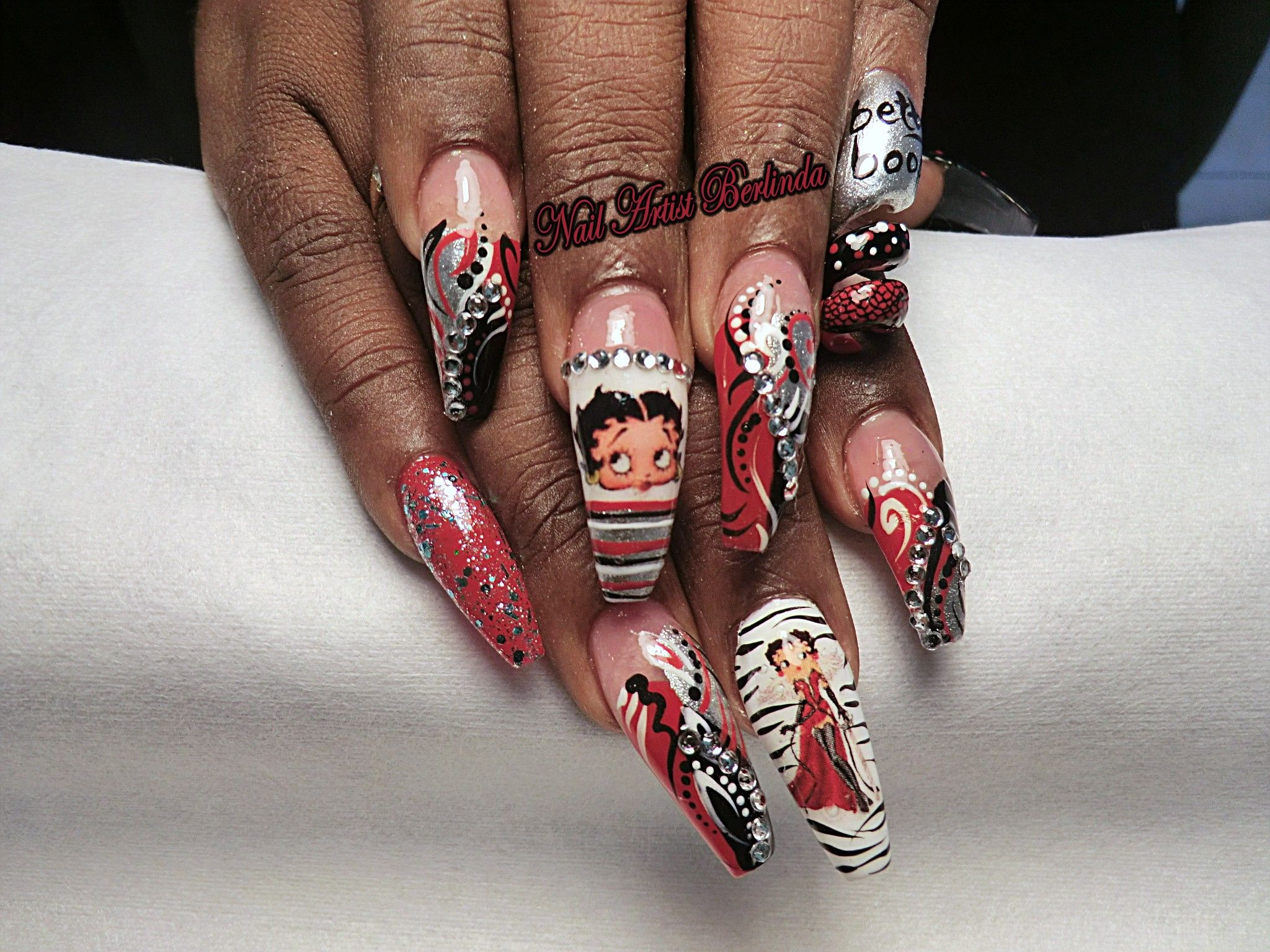 Betty Boop - www.nailartistberlinda.com for decals | Extravagant ...