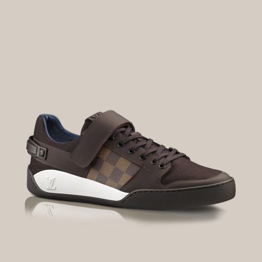 Elliptic sneaker in Damier Canvas and flannel - Louis Vuitton - LOUISVUITTON .COM b318a0d44c9